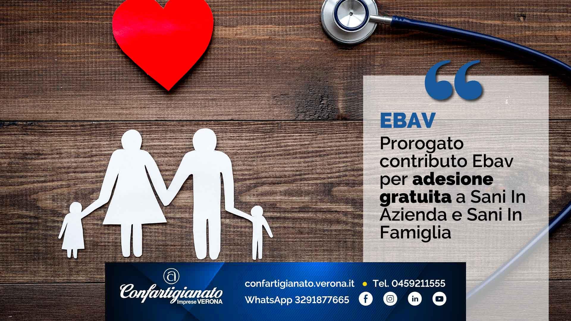 EBAV – Prorogato contributo Ebav per adesione gratuita a Sani In Azienda e Sani In Famiglia