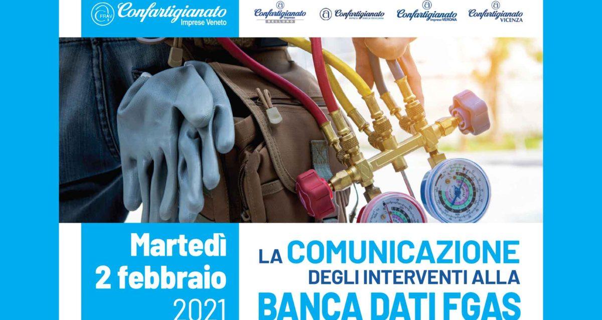 IMPIANTI – Seminario on line su 'La comunicazione degli interventi alla Banca Dati Fgas': martedì 2 febbraio. Iscriviti subito