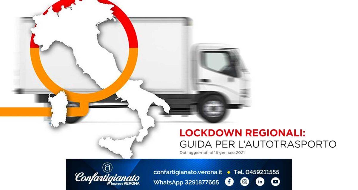 COVID-19 – Regole per Autotrasporto e mobilità con i lockdown regionali – aggiornamento 16 gennaio 2021