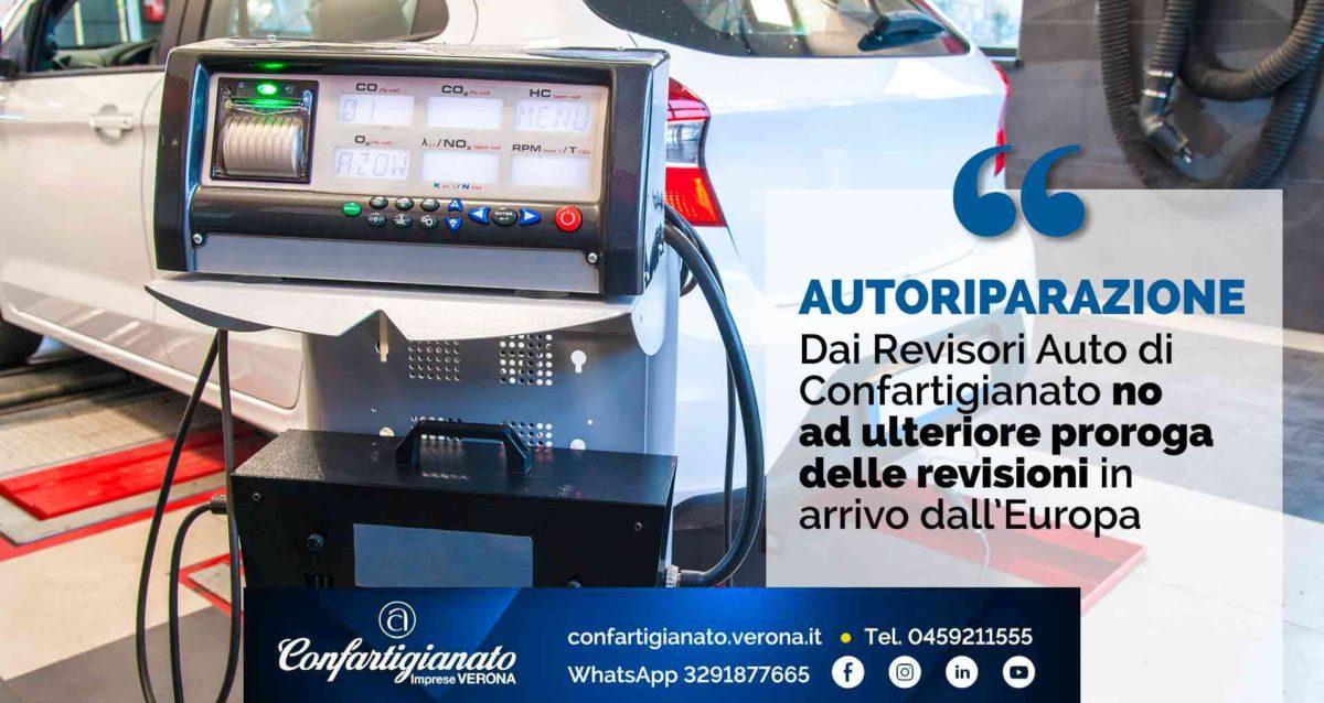 AUTORIPARAZIONE –Dai Revisori Auto di Confartigianato no ad ulteriore proroga delle revisioni in arrivo dall'Europa