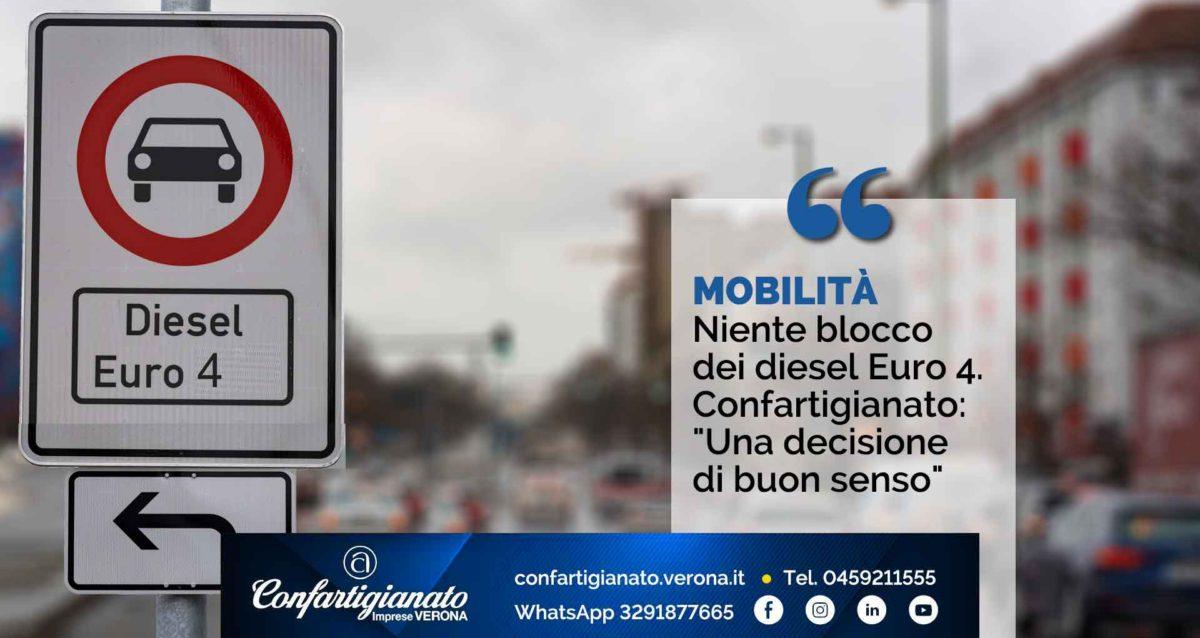 """MOBILITA' – Niente blocco dei diesel Euro 4. Confartigianato: """"Una decisione di buon senso"""""""