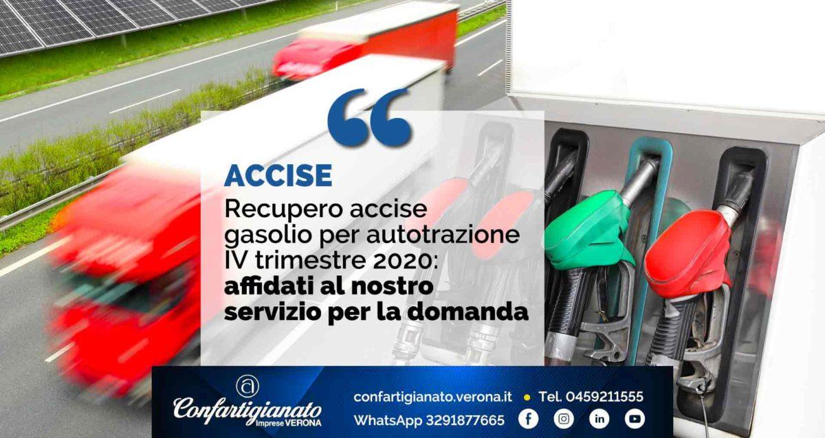 ACCISE – Recupero accise gasolio per autotrazione IV trimestre 2020: affidati al nostro servizio per la domanda