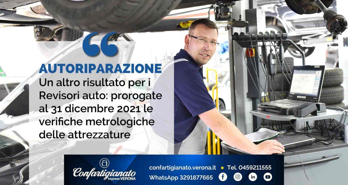 AUTORIPARAZIONE – Un altro risultato per i Revisori auto: prorogate al 31 dicembre 2021 le verifiche metrologiche delle attrezzature