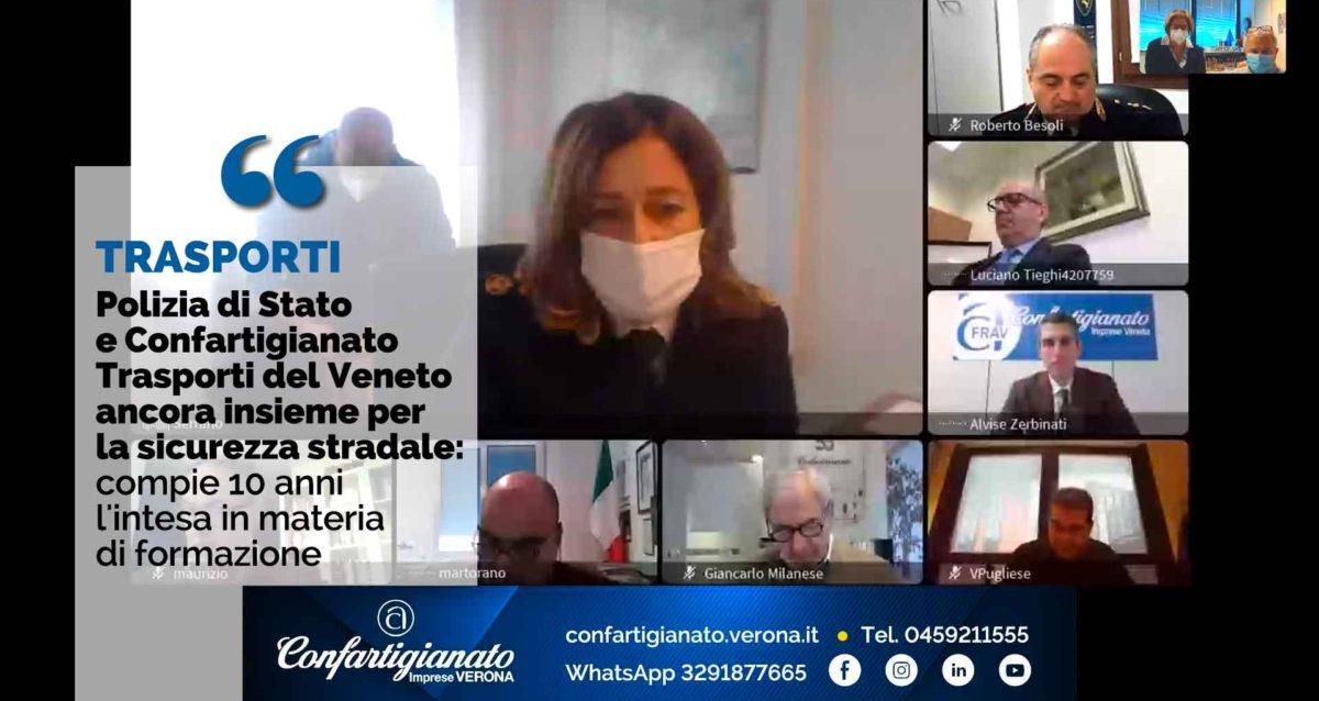 TRASPORTI – Polizia di Stato e Confartigianato Trasporti del Veneto ancora insieme per la sicurezza stradale: compie 10 anni l'intesa in materia di formazione