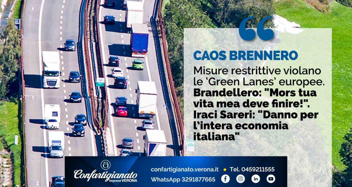 """CAOS BRENNERO – Misure restrittive violano le 'Green Lanes' europee. Brandellero: """"Mors tua vita mea deve finire!"""", Iraci Sareri: """"Danno per intera economia italiana"""""""