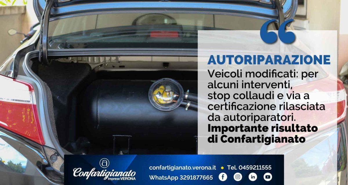 AUTORIPARAZIONE – Veicoli modificati: per alcuni interventi, stop collaudi e via a certificazione rilasciata da autoriparatori. Risultato di Confartigianato