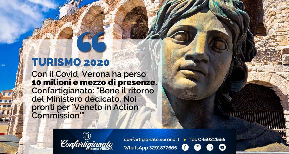 """TURISMO 2020 –Con il Covid, Verona ha perso 10 milioni e mezzo di presenze. Confartigianato: """"Bene il ritorno del Ministero dedicato"""""""