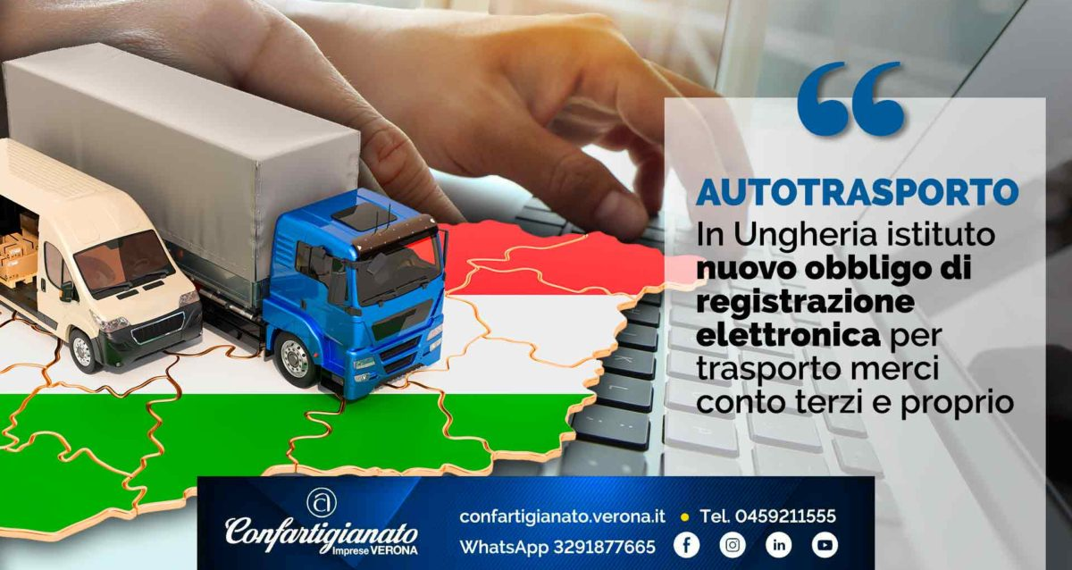 AUTOTRASPORTO – In Ungheria istituto nuovo obbligo di registrazione elettronica per trasporto merci conto terzi e proprio