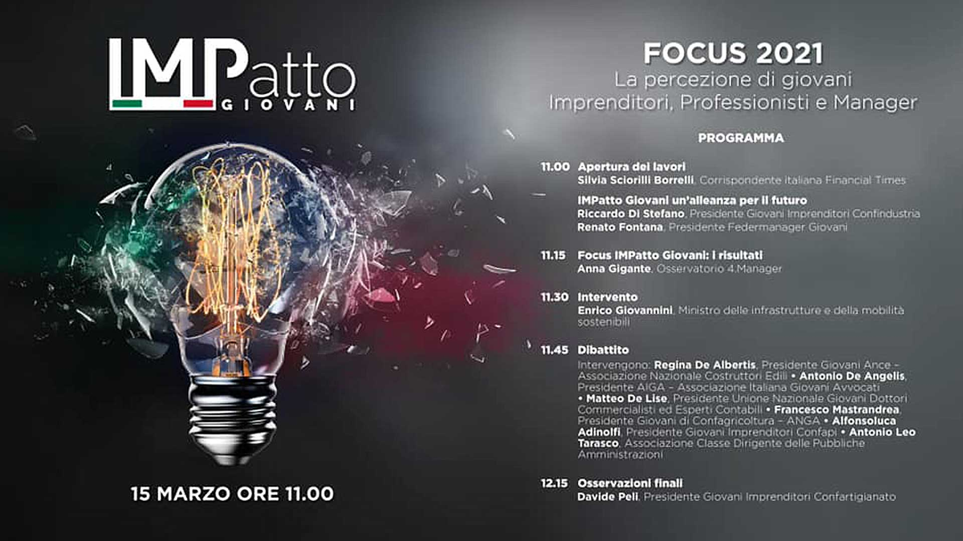 GIOVANI – Appuntamento il 15 marzo con IMPatto Giovani, il futuro dell'economia visto dai Giovani Imprenditori: segui la diretta on-line