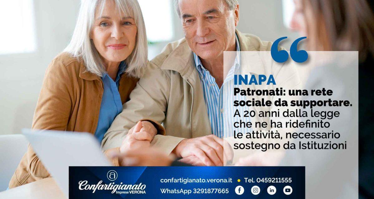 INAPA – Patronati: una rete sociale da supportare. A 20 anni dalla legge che ne ha ridefinito le attività, serve sostegno da Istituzioni