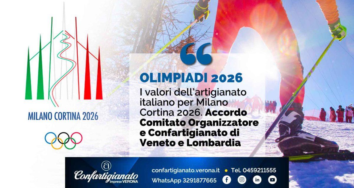 OLIMPIADI 2026 – I valori dell'artigianato italiano per Milano Cortina 2026. Accordo Comitato Organizzatore e Confartigianato di Veneto e Lombardia