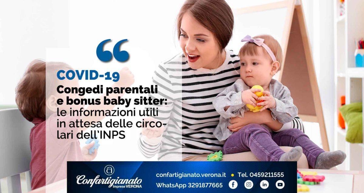 COVID-19 – Congedi parentali e bonus baby sitter: le informazioni utili in attesa delle circolari INPS