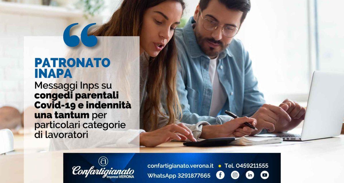 PATRONATO INAPA – Messaggi Inps su congedi parentali Covid-19 e indennità una tantum per particolari categorie di lavoratori