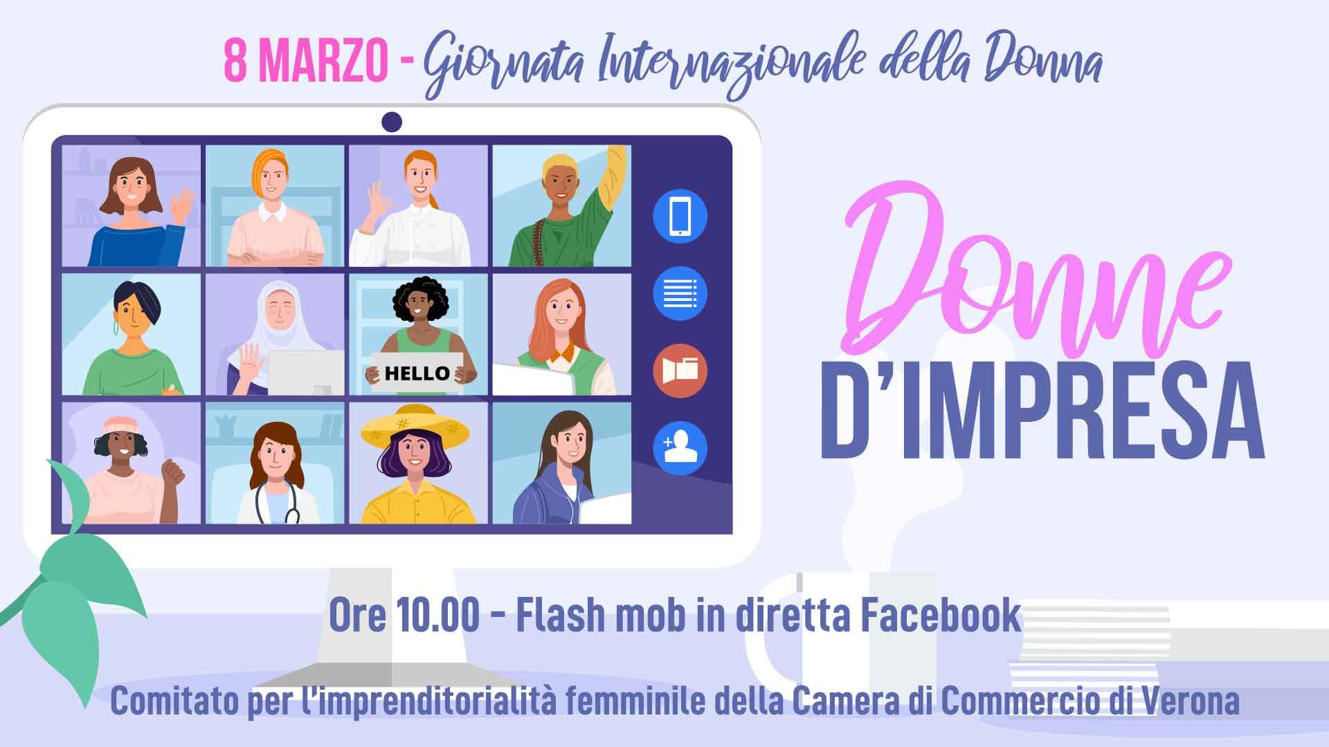 DONNE – Lunedì 8 marzo, ore 10 su Facebook: Donne d'Impresa, flash mob per l'imprenditorialità femminile