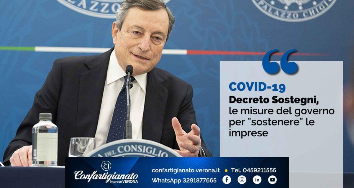 """COVID-19 – Decreto Sostegni, le misure del governo per """"sostenere"""" le imprese"""