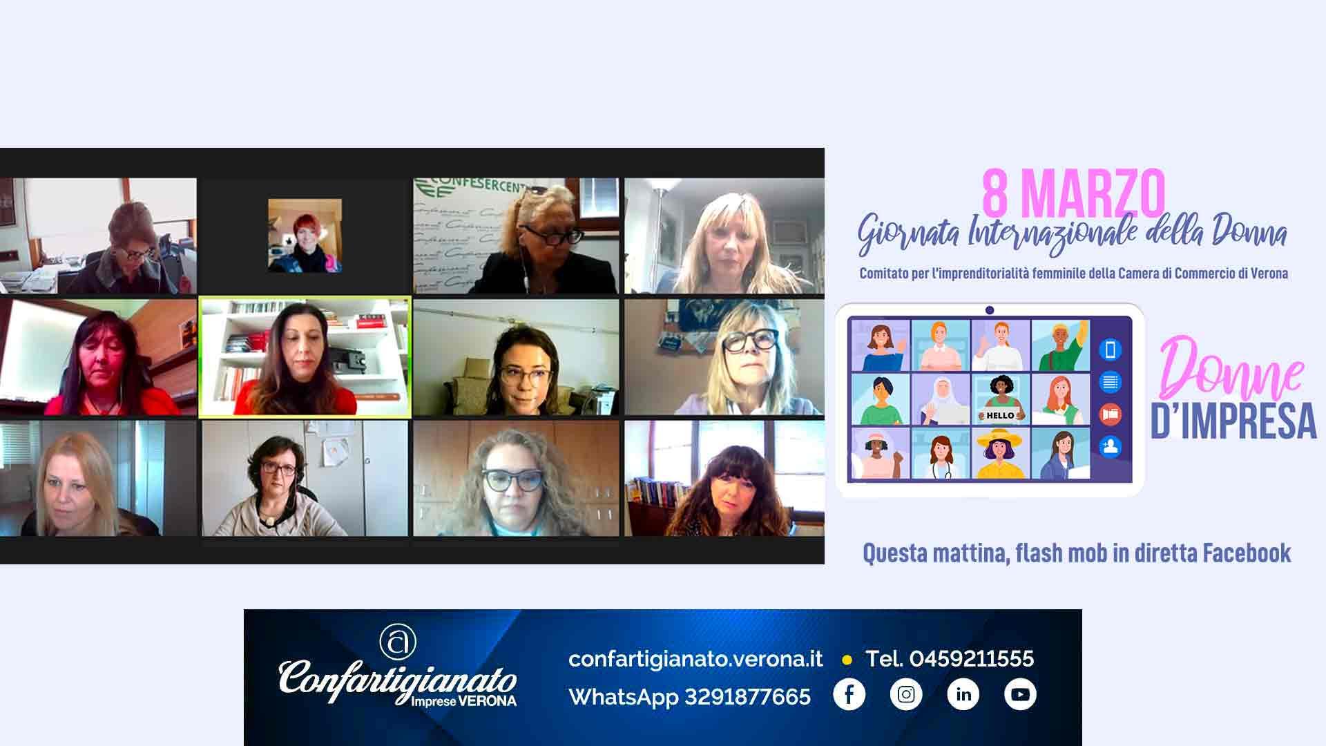 DONNE – Donne d'Impresa, flash mob del Comitato Imprenditorialità Femminile: letti interventi di donne che hanno affrontato e vinto le imprese della vita