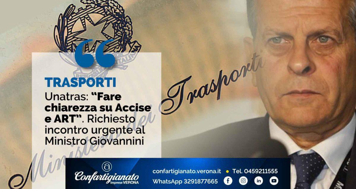 """TRASPORTI – Unatras: """"Fare chiarezza su Accise e ART"""". Richiesto incontro urgente al Ministro Giovannini"""