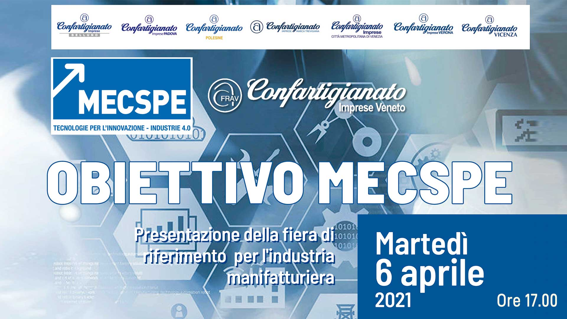 MECCANICA – Obiettivo MECSPE: il 6 aprile, seminario on-line per promuovere la partecipazione alla nota fiera di settore