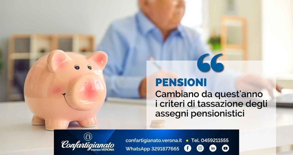 PENSIONI – Cambiano da quest'anno i criteri di tassazione degli assegni pensionistici
