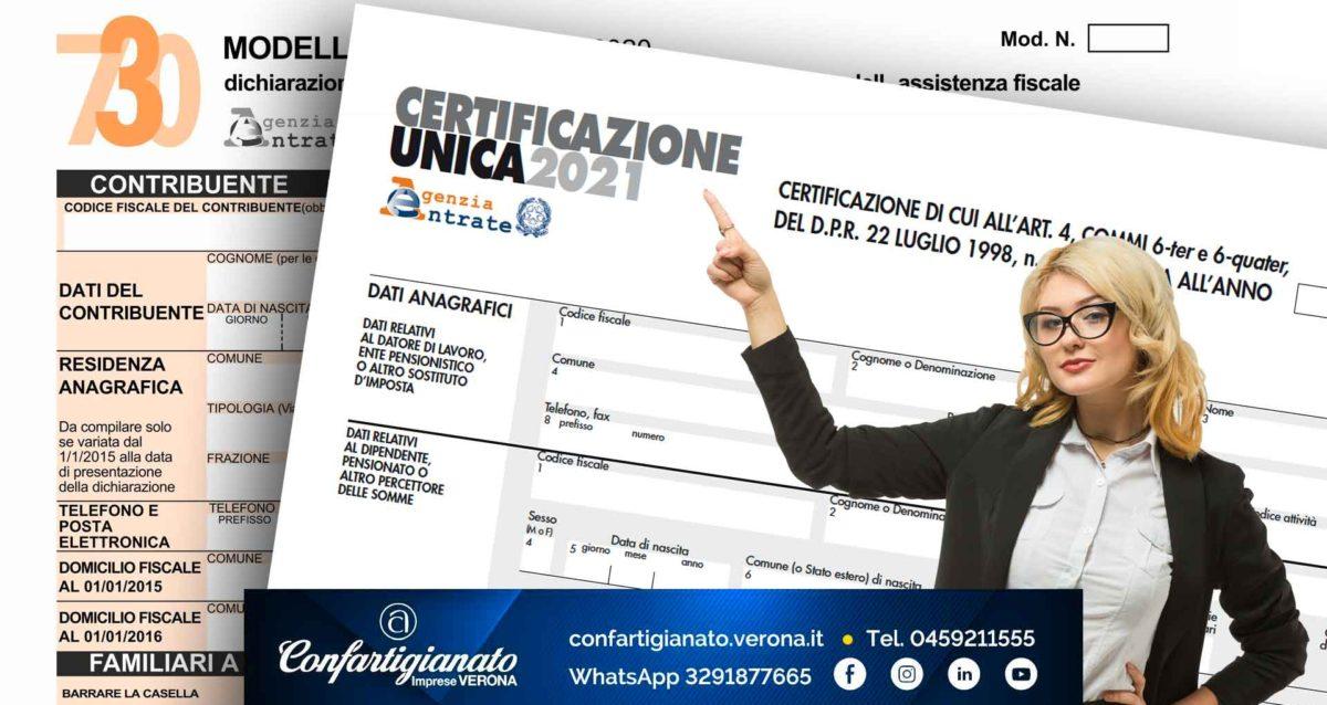 FISCO – La Cassa Integrazione percepita nel 2020 tramite FSBA/EBAV è un reddito che il lavoratore deve dichiarare nel 730 con la Certificazione Unica. Confartigianato a disposizione