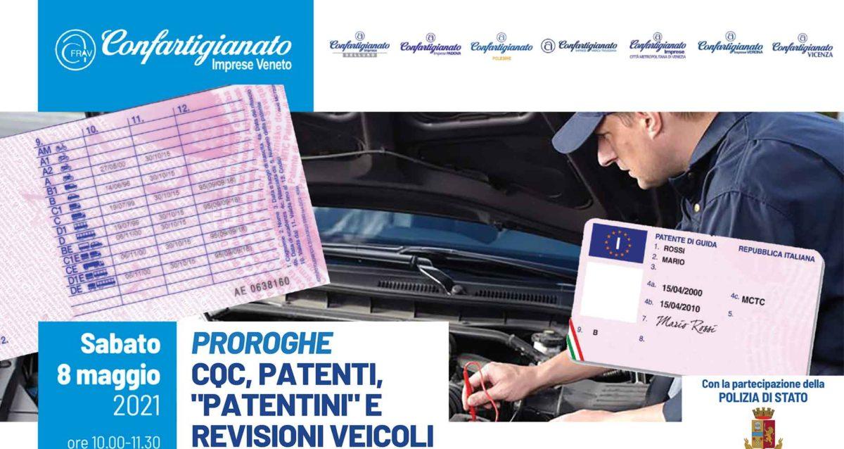 """AUTOTRASPORTO – Sabato 8 maggio, seminario online con Polstrada Veneto su Proroghe CQC, Patenti, """"Patentini"""" e Revisioni veicoli. Iscriviti subito!"""