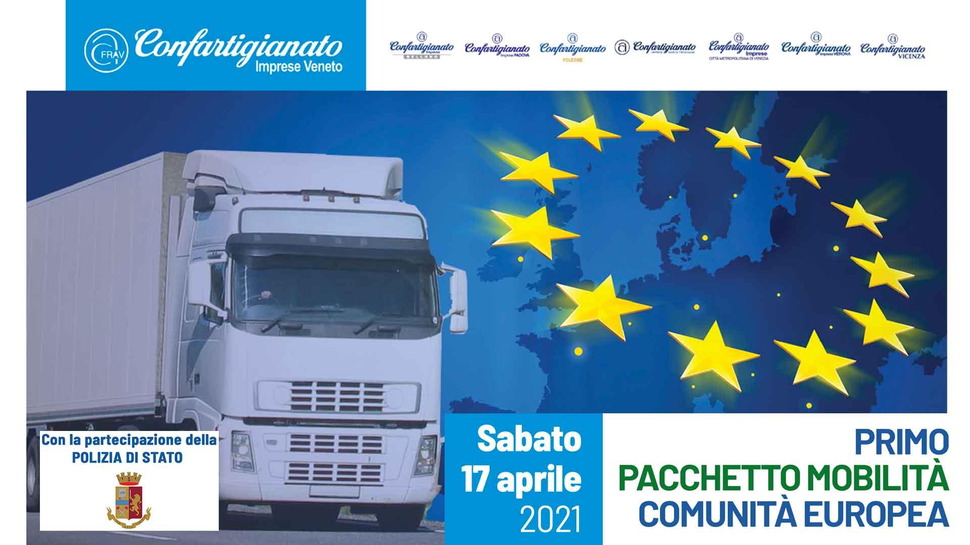 AUTOTRASPORTO – Intesa Confartigianato e Polstrada Veneto: sabato 17 aprile, seminario online sul Pacchetto Mobilità europeo. Iscriviti subito!