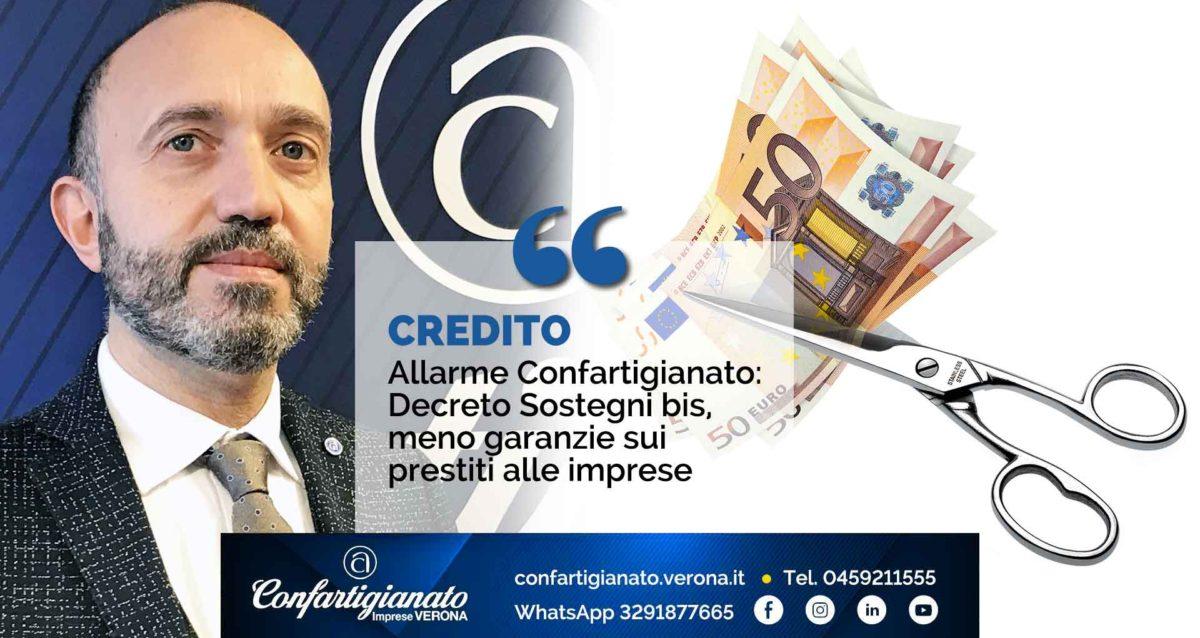 CREDITO – Allarme Confartigianato: Decreto Sostegni bis, meno garanzie sui prestiti alle imprese