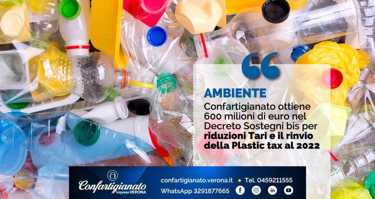 AMBIENTE – Nel Decreto Sostegni bis Confartigianato ottiene 600 milioni di euro per riduzioni Tari e il rinvio della Plastic tax al 2022