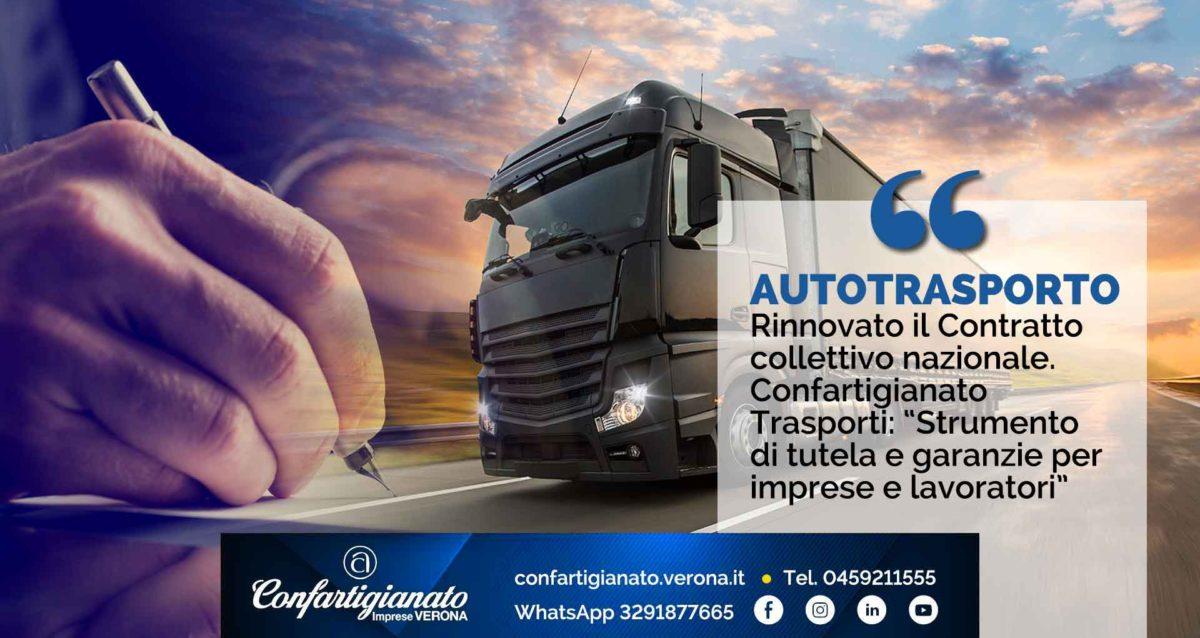 """AUTOTRASPORTO – Rinnovato il Contratto collettivo nazionale. Confartigianato Trasporti: """"Strumento di tutela e garanzie per imprese e lavoratori"""""""