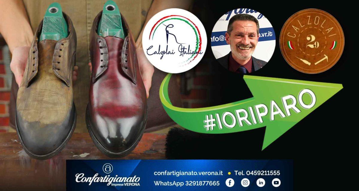 """CALZOLAI – Lunedì 31 maggio, #IORIPARO, Giornata Nazionale della riparazione delle calzature. Geroli: """"Venite a trovarci nelle calzolerie di tutta Italia"""""""