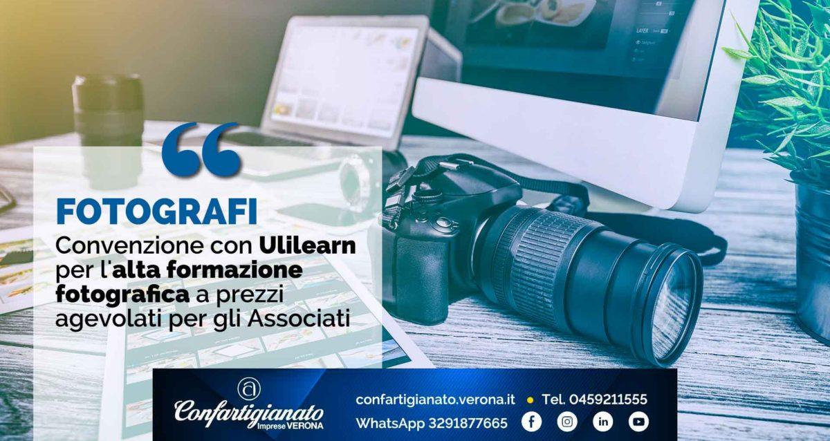 FOTOGRAFI – Convenzione con Ulilearn per l'alta formazione fotografica a prezzi agevolati per gli Associati