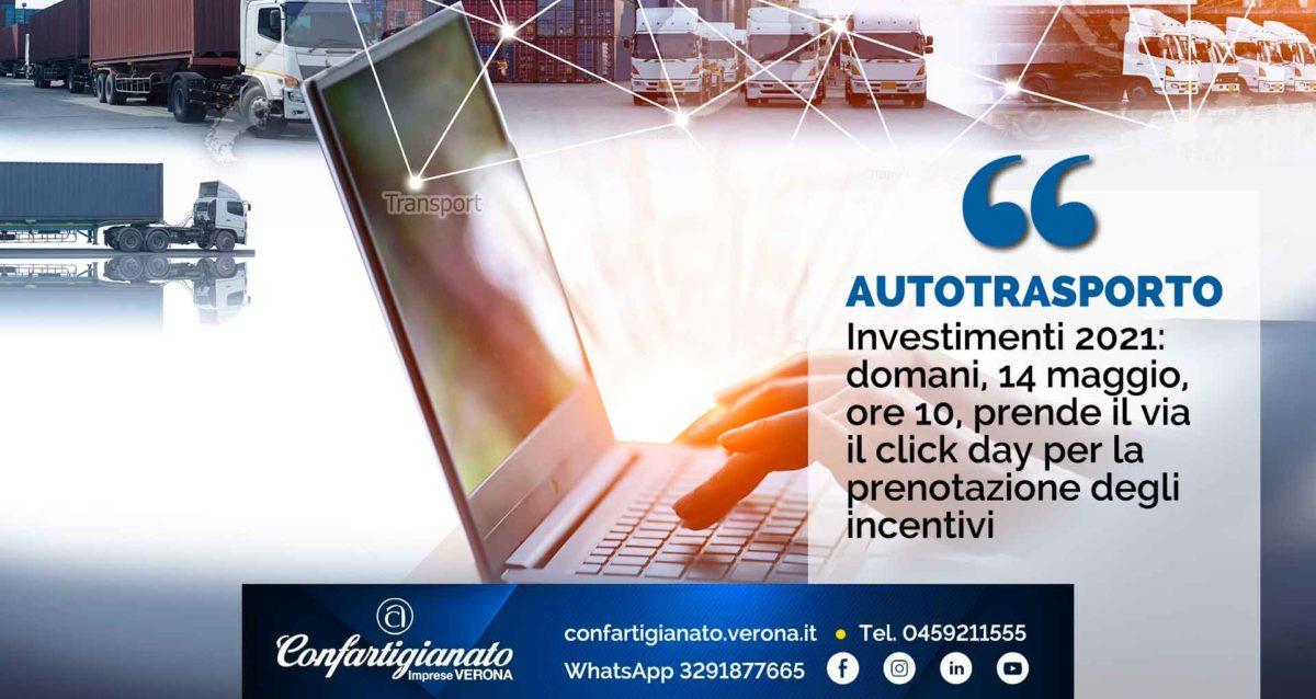 AUTOTRASPORTO – Investimenti 2021: domani, 14 maggio, ore 10, al via il click day per la prenotazione degli incentivi
