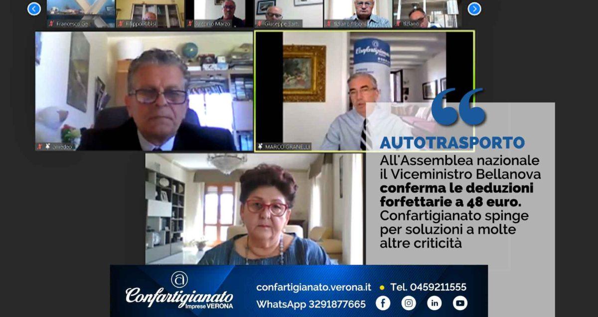 AUTOTRASPORTO – All'Assemblea nazionale il Viceministro Bellanova conferma le deduzioni forfettarie a 48 euro. Confartigianato spinge per soluzioni a molte altre criticità