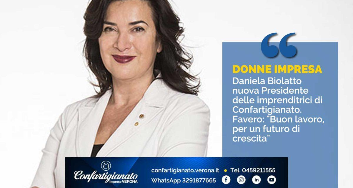 """DONNE IMPRESA – Daniela Biolatto nuova Presidente delle imprenditrici di Confartigianato. Favero: """"Buon lavoro, per un futuro di crescita"""""""