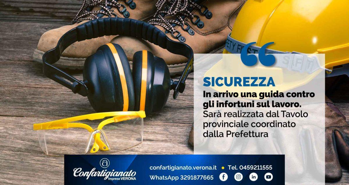 SICUREZZA – In arrivo una guida contro gli infortuni sul lavoro. Sarà realizzata dal Tavolo provinciale coordinato dalla Prefettura