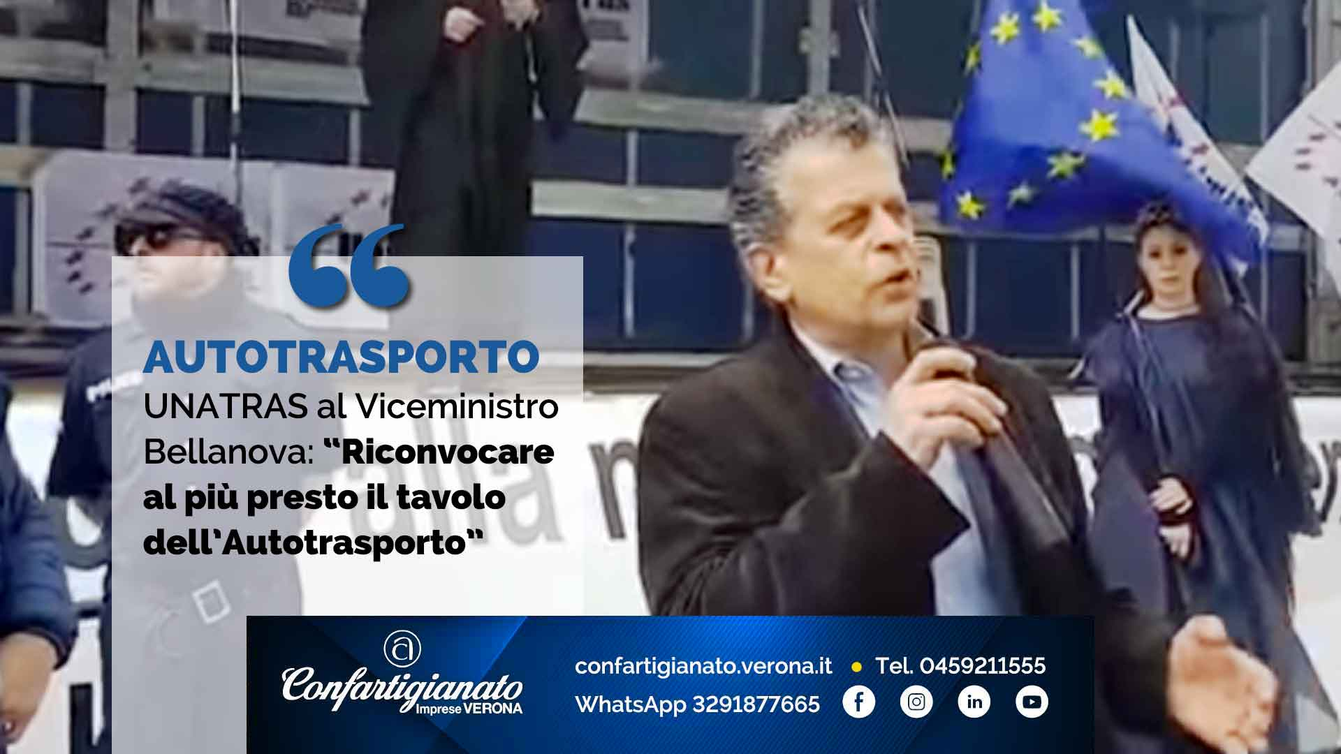 """AUTOTRASPORTO – UNATRAS al Viceministro Bellanova: """"Riconvocare al più presto il tavolo dell'Autotrasporto"""""""