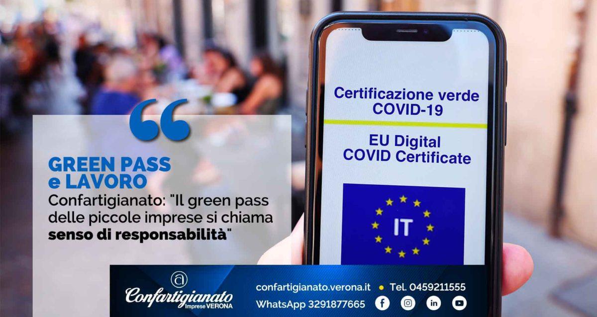 """GREEN PASS e LAVORO – Confartigianato: """"Il green pass delle piccole imprese si chiama senso di responsabilità"""""""
