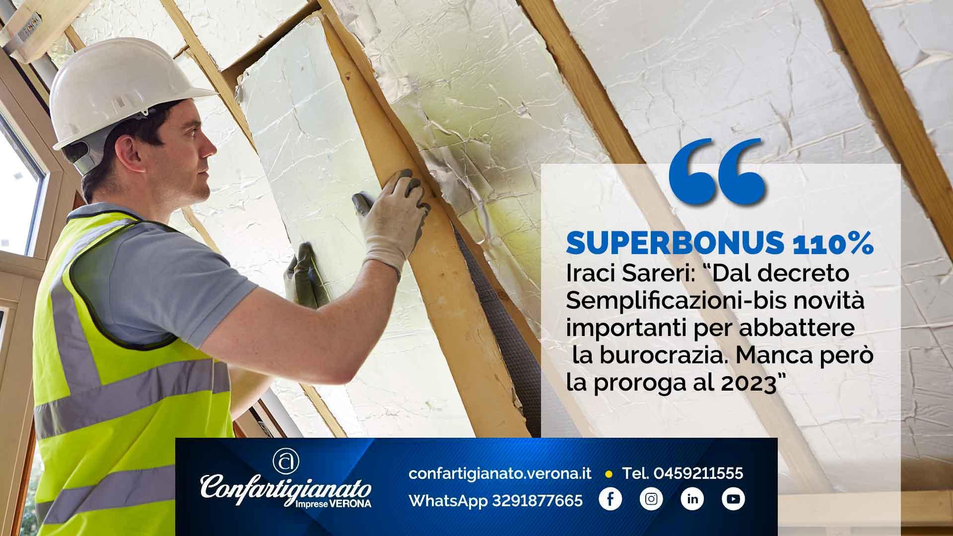"""SUPERBONUS 110% – Iraci Sareri: """"Dal decreto Semplificazioni-bis novità importanti per abbattere la burocrazia. Manca però la proroga al 2023"""""""