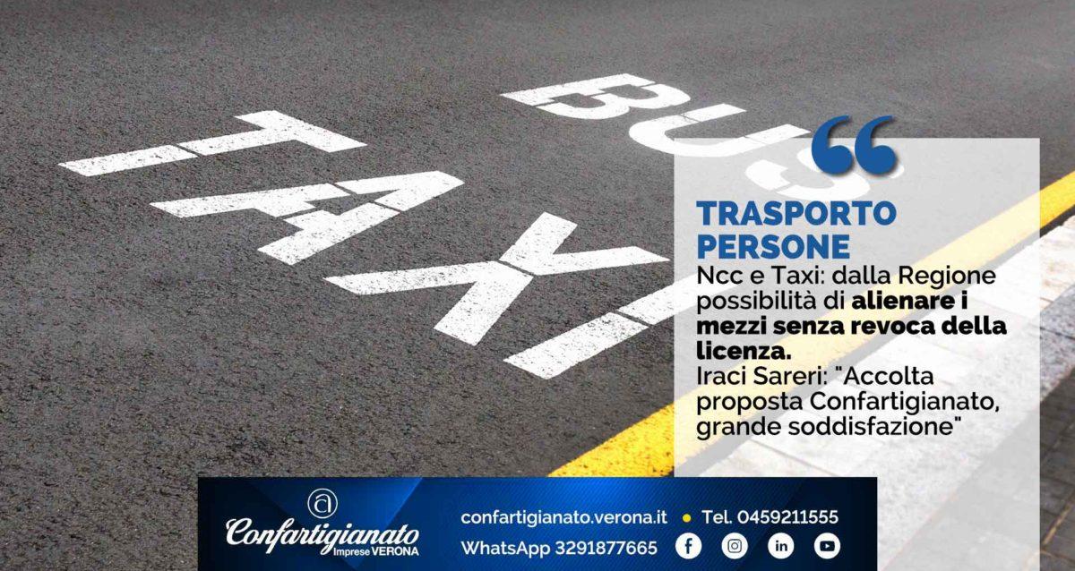 """TRASPORTO PERSONE – Ncc e Taxi: dalla Regione possibilità di alienare i mezzi senza revoca della licenza. Iraci Sareri: """"Accolta proposta Confartigianato, grande soddisfazione"""""""