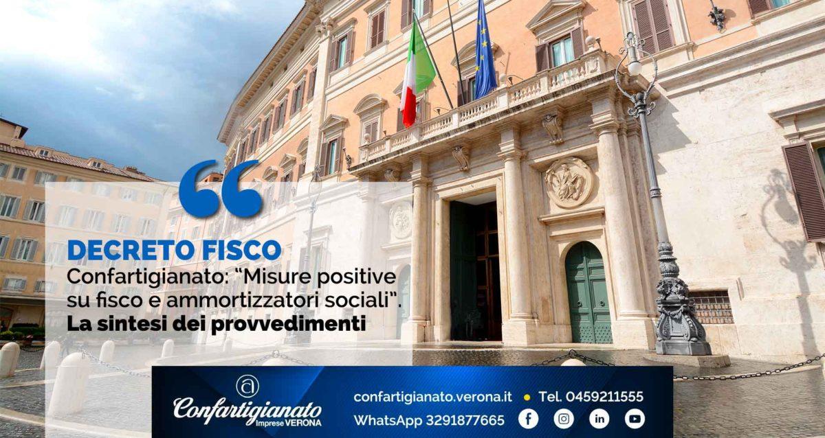 DECRETO FISCO – Confartigianato: 'Misure positive su fisco e ammortizzatori sociali'. La sintesi dei provvedimenti