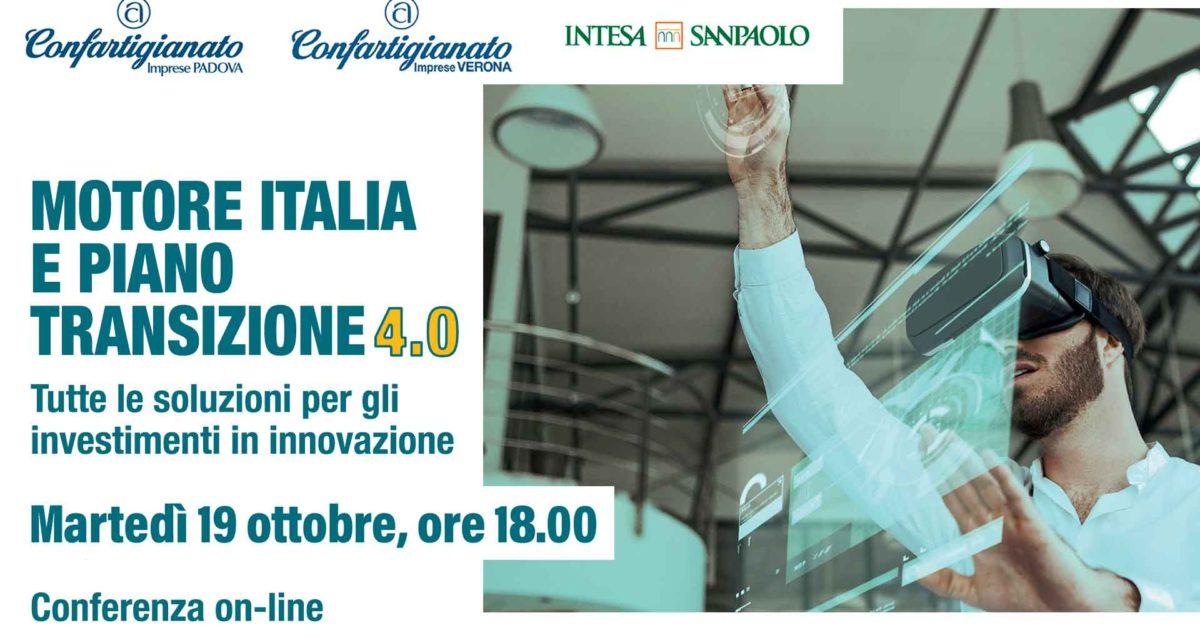 WEBINAR – Segui il seminario on-line 'Motore Italia e Piano di Transizione 4.0: le soluzioni per gli investimenti'